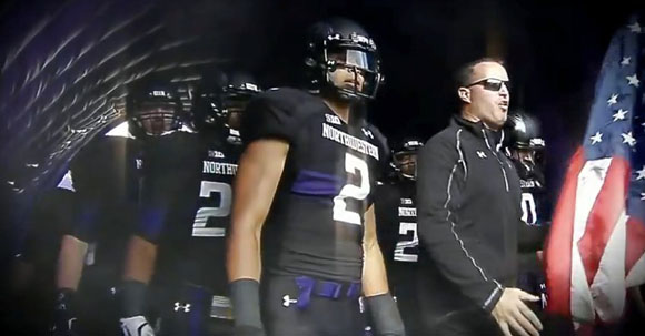 Northwestern will rock all-blacks for Saturday's clash