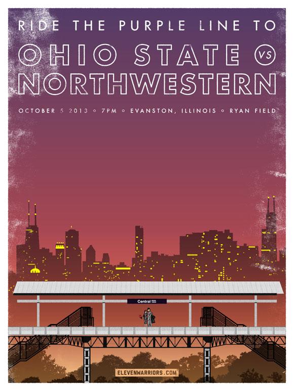 Ohio State vs Northwestern game poster
