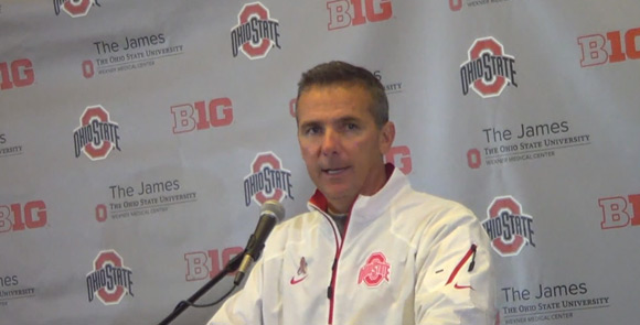 Urban Meyer was in good spirits following the Penn State win.