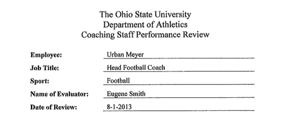 Urban Meyer's annual review