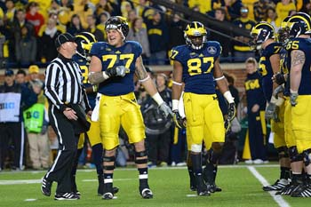 Lewan came back for this. [MGoBlog/Fuller photo]