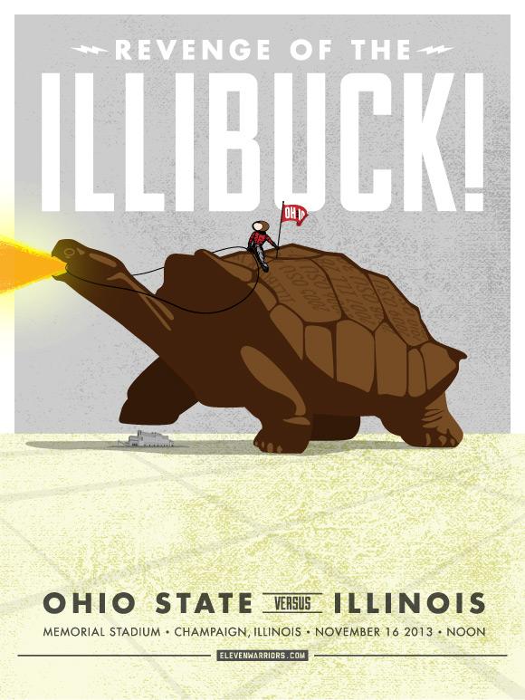 Illinois Game Poster