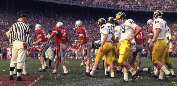 The 1968 Michigan game came right in the middle of the streak. [Photo: Ohio State Library]