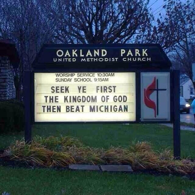 This United Methodist Church sign wins all of the church sign contests.