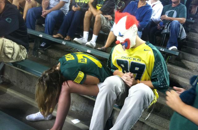 Oregon Duck fans in happier times