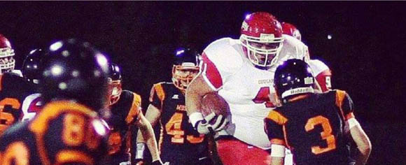 "Tony Picard is a 6'4"", 400-pound running back. No, really."