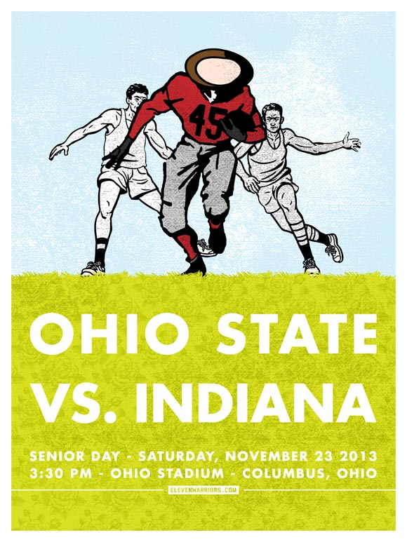 Ohio State vs Indiana game poster