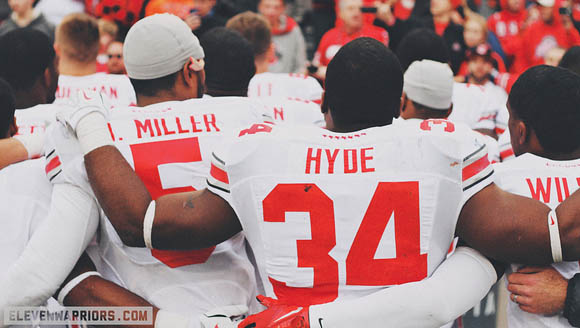 Braxton Miller and Carlos Hyde were each named all-Big Ten Monday