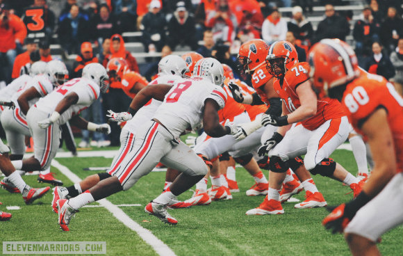 It's pretty simple for the defensive line: attack the orange