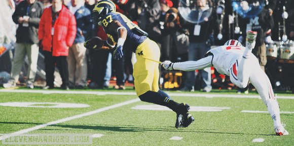 Missed tackles plagued the Buckeyes all day