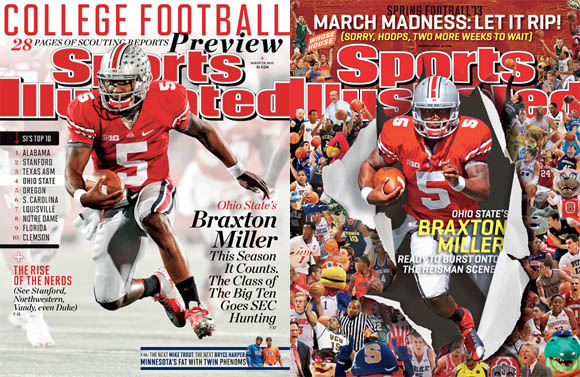 Braxton Miller's two previous SI covers.