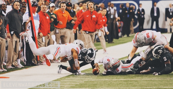 A failed 4th and 2 keeper by Braxton Miller ensured Ohio State would not play for all the marbles.