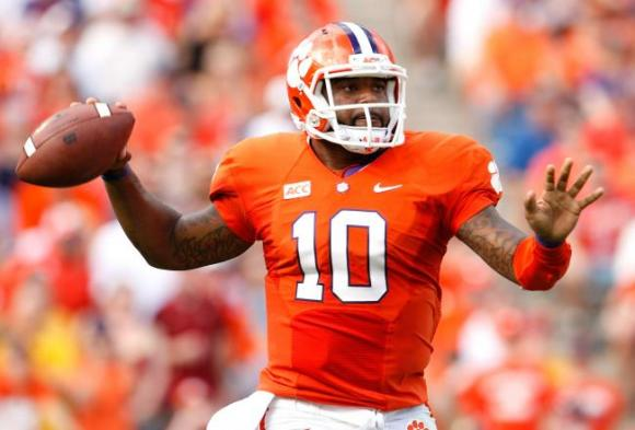 Tajh Boyd's jersey was nearly scarlet and gray.