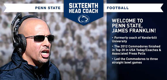 James Franklin is the 16th head coach in Penn State football history.