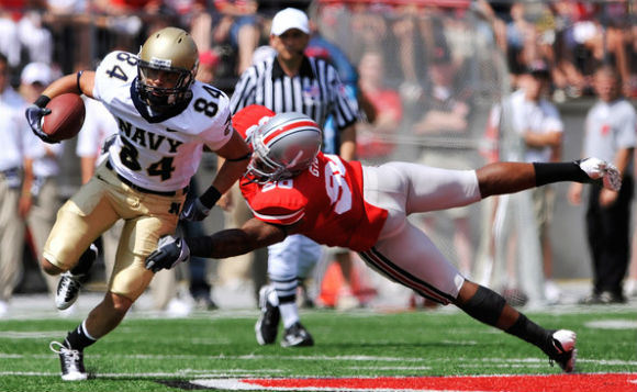 Navy coming to chop all the D-line's knees, y'all.