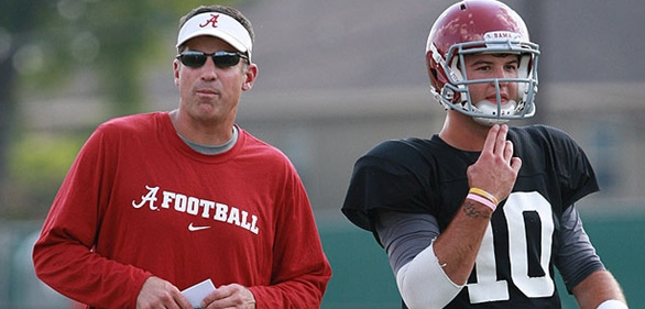 Alabama OC Doug Nussmeier, Left