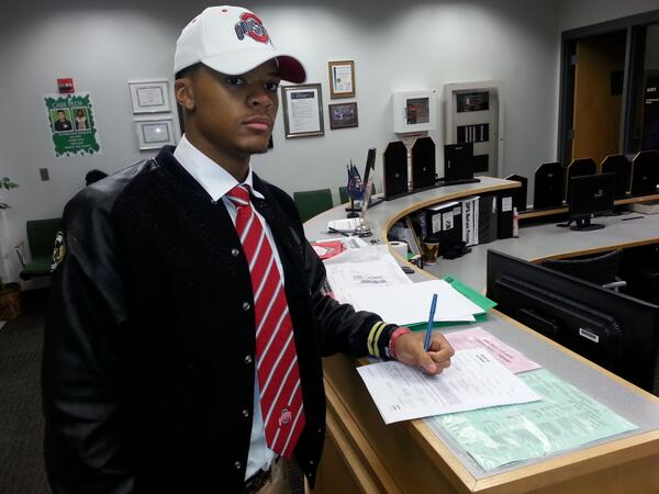 Damon Webb signs with Ohio State on National Letter of Intent Day