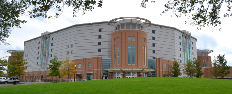 A much prettier exterior. A blander interior. A better arena. (via official Ohio State athletics website)