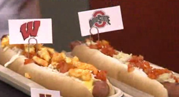 The Ohio State hot dog at the 2014 Big Ten men's basketball tournament