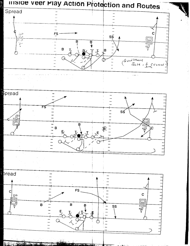 Navy Play Action passing