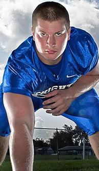 Bishop Ready offensive lineman Brady Taylor