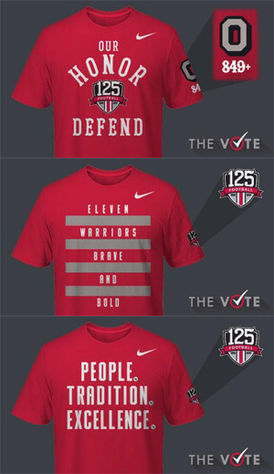 Your choices for the official fan tee of the 2014 Ohio State football season.