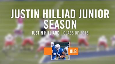 Justin Hilliard Highlights via hudl