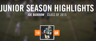 Joe Burrow Highlights via hudl