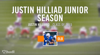 Justin Hilliard highlights via hudl
