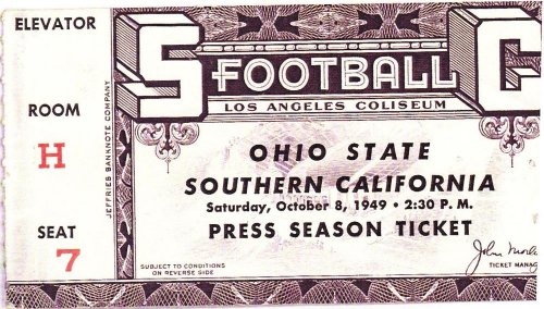 With Wes Fesler's best-ever team, Ohio State tied USC 13-13.