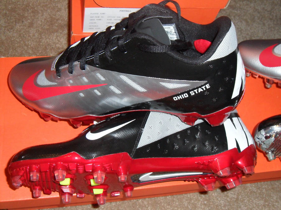 The Ohio State cleats Torrance Gibson wore on ESPN.