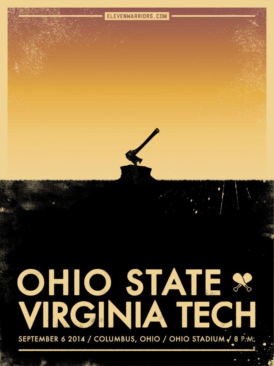 11W Virginia Tech Game Poster