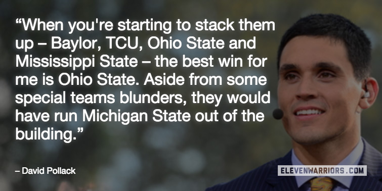 ESPN's David Pollack raved about the Buckeyes tuesday night.