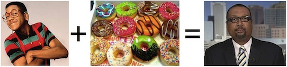 urkel + donuts = fat urkel