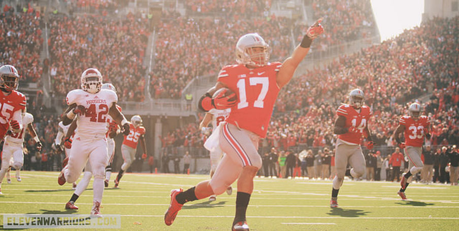 Jalin Marshall takes a punt return to the house against Indiana.