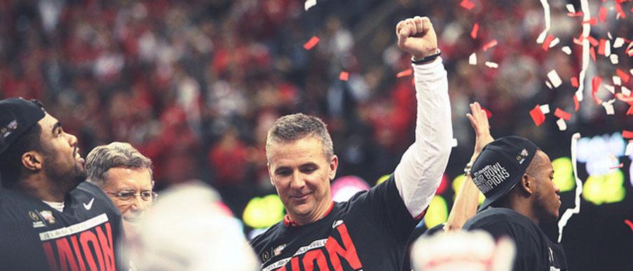 Urban Meyer celebrates Ohio State's Sugar Bowl win over Alabama