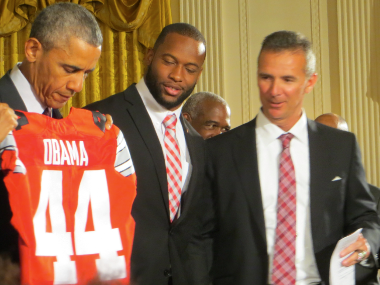 obama, curtis grant and urban meyer