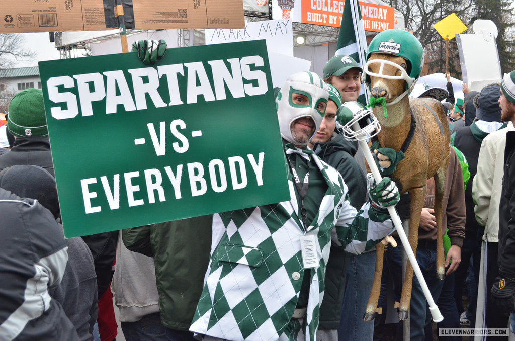 Spartans fans