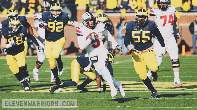 Braxton Miller breaks free against Michigan.