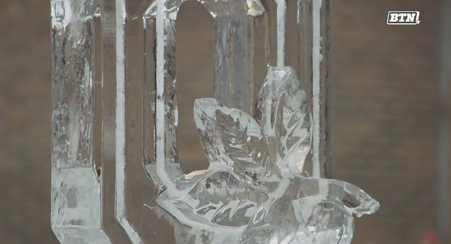 Block O ice sculpture