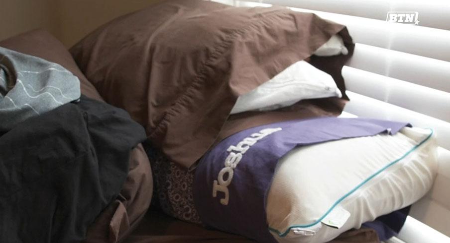 Linebacker Joshua Perry has a special pillow.
