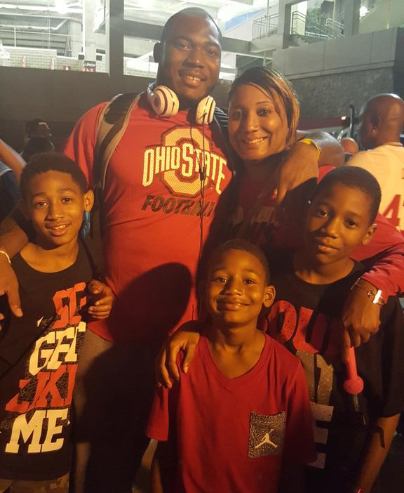 Tyquan Lewis and his family.