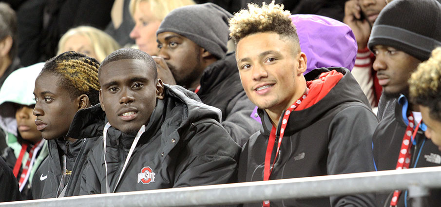 Ben Victor and Austin Mack at Ohio State.