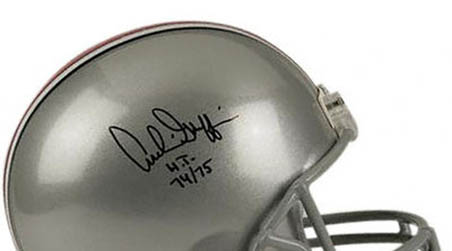 Archie Griffin Autographed Riddell Replica Helmet