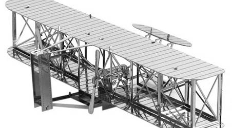 3D Laser Cut Wright Brothers Airplane