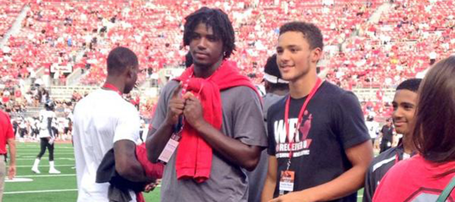 Auston Robertson and Austin Mack at Ohio State in 2014.