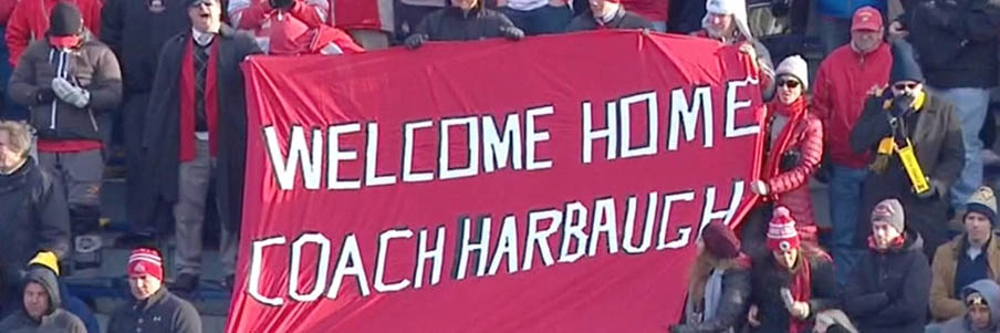 WELCOME HOME, COACH HARBAUGH