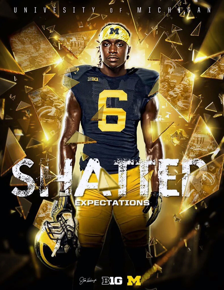 A Michigan recruiting flyer for Dylan Moses