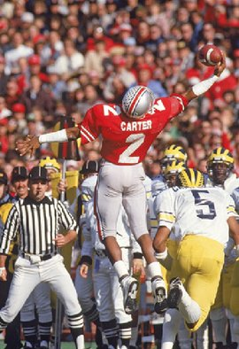 Cris Carter finished 6th in the B1G with 648 receiving yards in 1984.