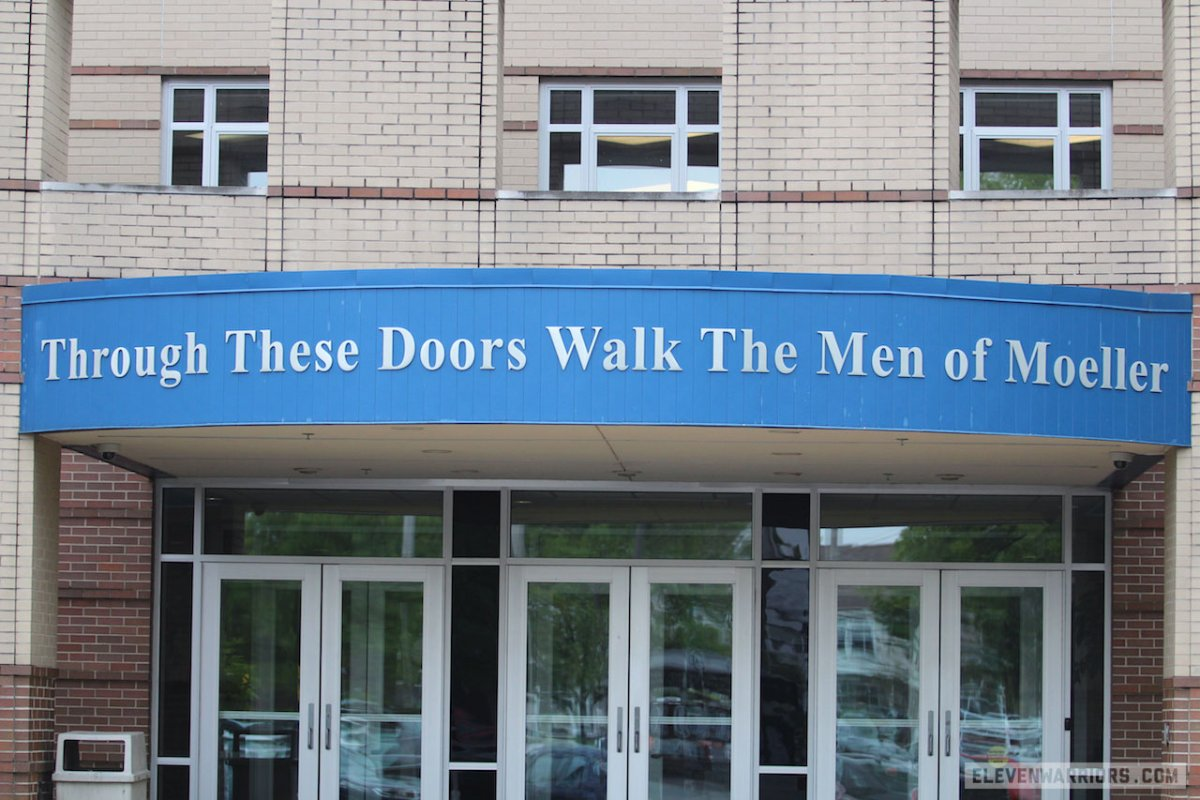 The entry way to Archbishop Moeller